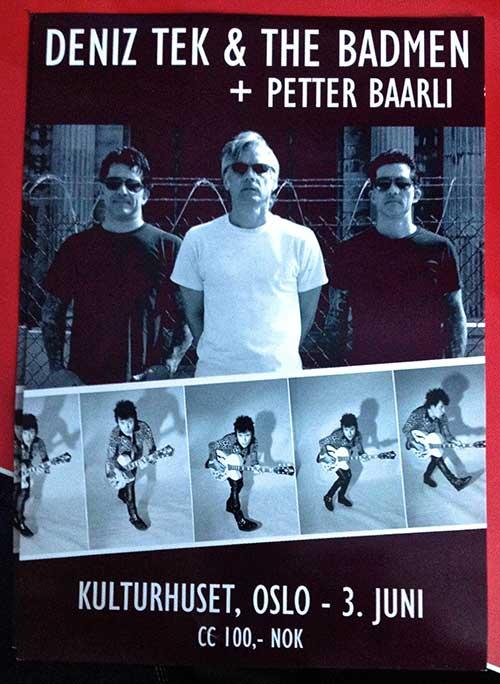 Deniz Tek and The Bad Men live in Norway - The I-94 Bar
